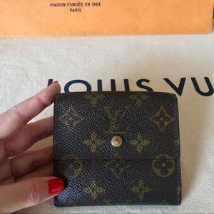 Louis Vuitton Brown Monogram Elise Compact Wallet